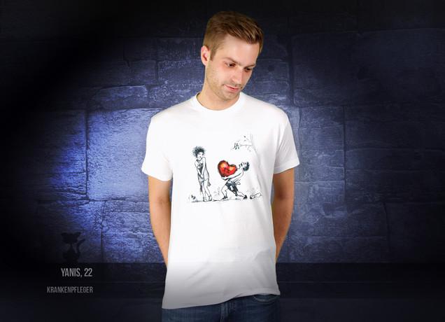 Stone Drag for Valentinstag T-Shirt