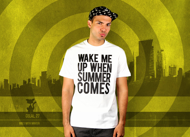 Herren T-Shirt Wake Me Up When Summer Comes
