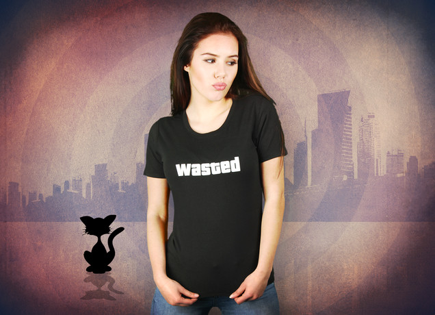Damen T-Shirt Wasted