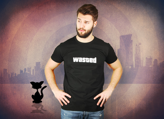 Herren T-Shirt Wasted