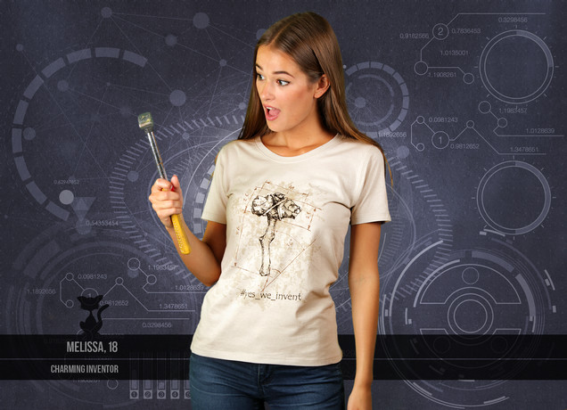Damen T-Shirt Yes, We Invent